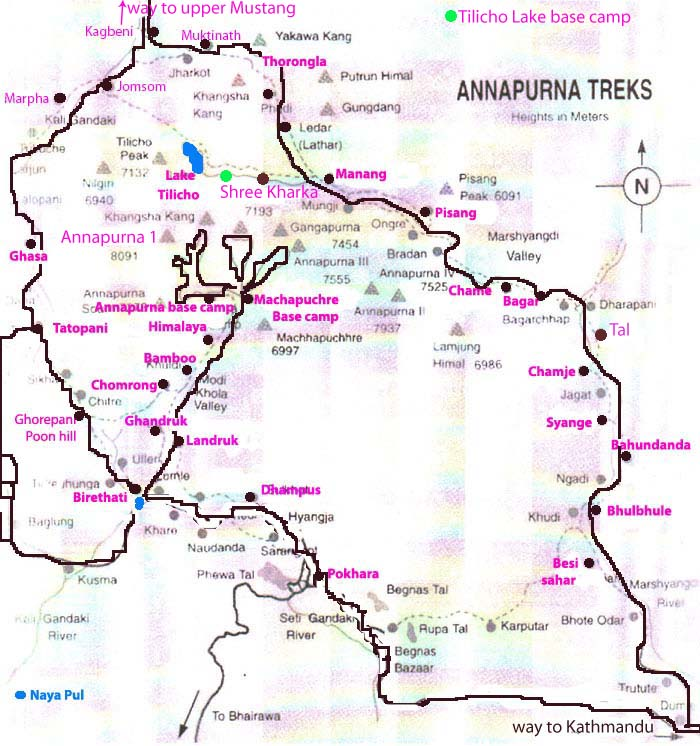 Poon hill trek 2018 Map
