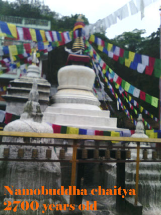 Namobuddha chaitya that was built about 2700 years ago