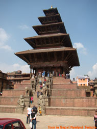 Nyatpol temple of bhaktapur is the one of the best pagoda style temple in Nepal