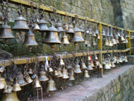 Bells  ringing before worshiping in Nepali temples