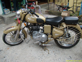 royal enfield motorbike for the nepal tour