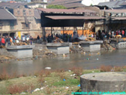 cremation is the final stage of the life.Dead bodies are cremated at the bank of bagmati river.