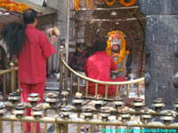 Dakshinkali is considered as very strong goddess in Hindu religion.Every day daily ritual is conducted at 12:30pm