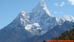 wonderful glance of Amadablam Himal from pangboche