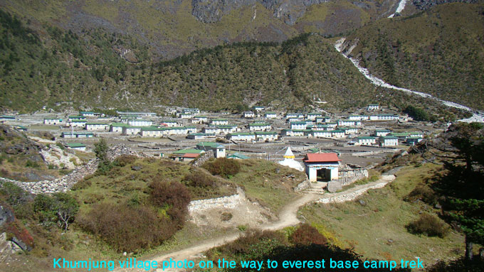 photo of the khumjung sherpa village in everest region