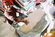 A mountain man came to sell buckwheat flour in Namche.
