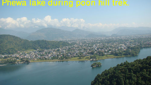 beautiful phewa lake in pokhara that can be seen before starting poon hill trek.