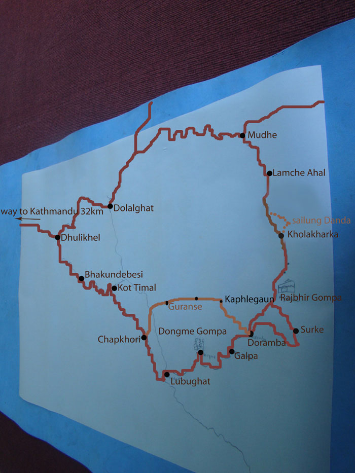 Sailung Trek Map