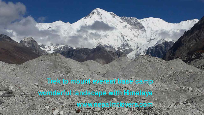 wonderful landscape with brilliant view of Himalaya in Everest region