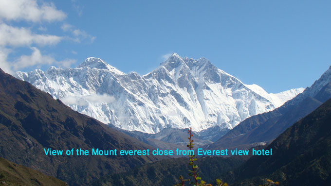 photo of the mount everest including lhotse himal