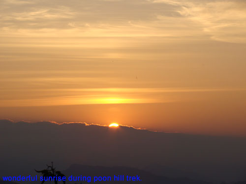 This wonderful sunrise is seen during poon hill trek.