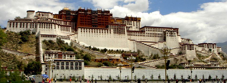 Potala Durbar Square at Tibetan City Lhasa
